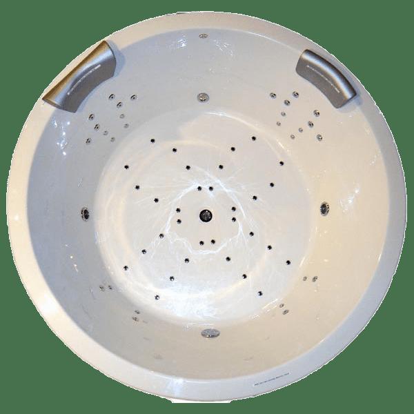 Rundbadewanne Tokio mit Whirlpoolsystem 180 cm